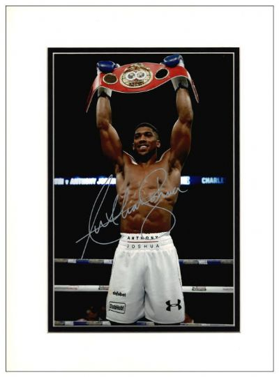 Anthony Joshua Signed Photo - Boxing